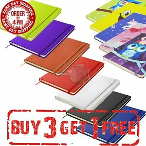 A5 A6 Notebook Hardback Notepad Lined Journal Diary Notes Book Planner Ruled Pad