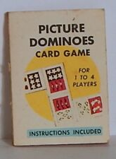 """VINT 1966 CRACKER JACK """"PICTURE DOMINOES"""" CARD GAME"""" GOOD COND"""