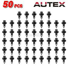50x Nylon Fender Bumper Hood Push-Type Retainer Clip Fasteners for Chrysler GM