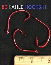 80 Eagle Claw 4/0 Double-Barbed Seaguard Red Kahle Hooks (LT141RDG-4/0) EB030103