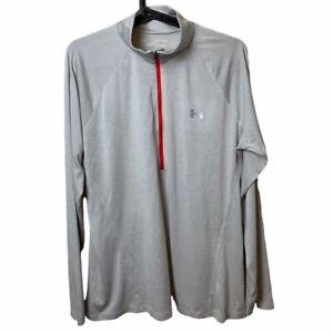 Women's UA Loose Fit Tech Twist 1/2 Zip Long Sleeve Shirt Size XL Gray