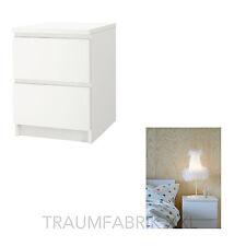 IKEA Kommode Schrank mit 2 Schubladen weiß Nachtisch Ablagetisch Tisch weiss NEU