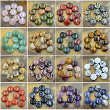 Natural Gemstones 20mm Coin Round Beads 10pcs For Jewelry Design