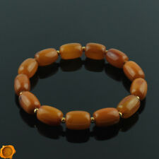 Rare Beeswax Vintage Luxury Baltic Amber Gold Adult Beads Bracelet for Men Women