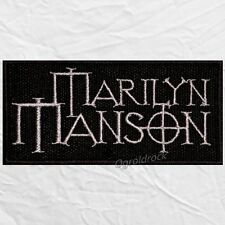 Marilyn Manson Word Logo Embroidered Patch & the Spooky Kids Cross MM