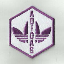 ✔ RARE_ADIDAS Purple Vintage Design_Patch_Embroidery