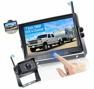 Wireless Backup Camera,HD 1080P with 7 Inch Touch Button Screen,High-Speed Re...