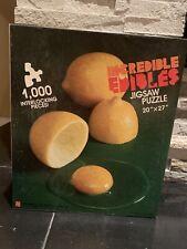 "INCREDIBLE Edibles Jigsaw Puzzle 20""x27"" 1000 interlocking Pieces."