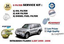 Per Mitsubishi Pajero 3.2 DID TD 1999-2006 Filtro Carburante Aria Olio Kit Di Servizio