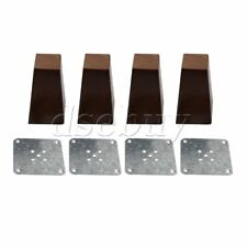 4PCS Wooden Furniture Cabinet Leg Square Feet Replacement without Screw