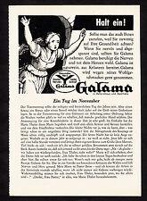 3w1774/ Alte Reklame von 1960 - GALAMA - Gesundes Herz - Starke Nerven