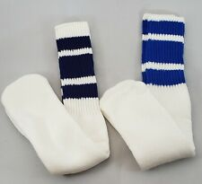 Vintage 80sRed White & Blue Athletic Gym, Basketball Tube Socks - One Size 2pr