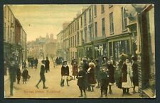 Market Street Holyhead 1906 busy street and shop view old vintage postcard