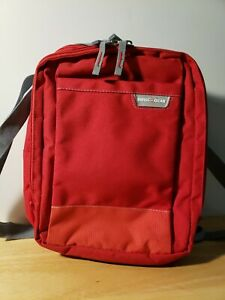Swiss Gear Vertical Boarding Bag 9x12 Luggage Phone Pocket Adjustable Strap Red