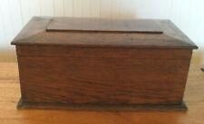 VICTORIAN WOODEN SARCOPHAGUS SEWING BOX TEA CADDY LIDDED STORAGE BOX