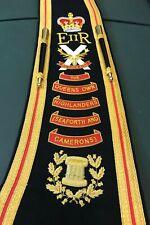 Drum or Pipe Major Baldric or Sash Custom Made Hand Embroidered Blazer Cloth