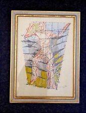 Jacques Villon, En Colere 1958 print, framed ltd.ed, signed within plate INV2616