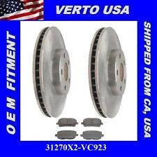 Front Rotors & Ceramic Pads for 2003-2008 Toyota Corolla, Matrix / Pontiac Vibe