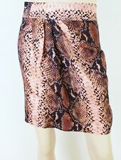 Witchery silk blend animal print faux wrap skirt - AS NEW - 8