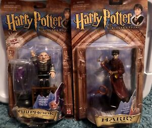 Griphook AND Quidditch Harry Potter- Sorcerers Stone NIB '01. Damaged Packaging