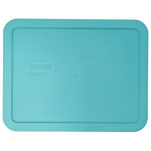 Pyrex 7211-PC Rectangular 6 Cup Turquoise Food Storage Replacement Lid Cover