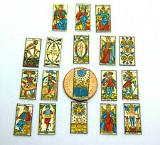 1:12 Scale Set Of 18 Tarot Cards Tumdee Dolls House Miniature Game Accessory