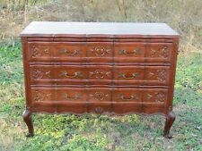 Antique French Oak Dresser chest of Drawers carved