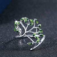 Chic Beautiful Women 925 Silver Wedding Engagement Ring Peridot Ring Size 6-10