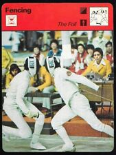1978 Sportscaster Fencing Card The Foil #20-17 NRMINT.