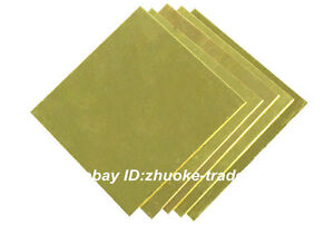 H62 Brass Flat Sheet Strip 10mm Thick Any Size Plate Bar Riveting Cutting Tool