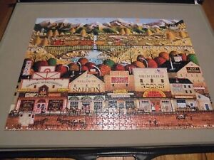 Buffalo Games Charles Wysocki 1000 Piece Puzzle Sleepy Town West Complete/Poster