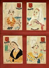 Four Unused Vintage French Postcards - Poitou