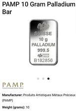 More details for pamp suisse 10gm palladium bar 999.5