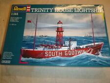 A Revell un-built / un-made plastic kit of the Trinity House lightship. box ope