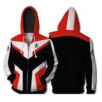 Marvel Avengers 4 Endgame Cosplay Hoodie Sweater 3D Mens Warm Casual Jacket Coat
