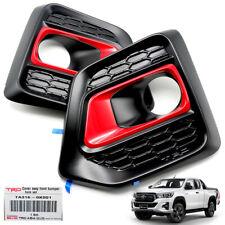 Genuine Fog Lamp Spot Lights Cover Black For Toyota Hilux Revo Rocco 2018 2019