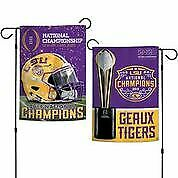 "LSU Wincraft 2019 National Championship Double Sided Garden Flag 12"" x 18"""