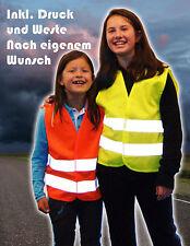Kinder Signal Weste Sicherheits Warnweste bedrucken mit Wunschdruck