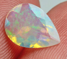 0.7Ct Natural Ethiopian Welo Opal Faceted Cut Play Of Color QOL1163