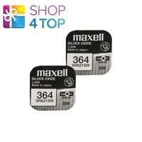 2 MAXELL 364 363 SR621SW BATTERIES SILVER 1.55V WATCH BATTERY EXP 2022 NEW