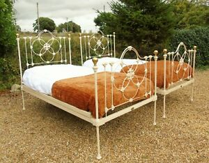 Pretty Pair of Victorian Large Single Beds Seventh Heaven
