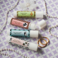 40 Personalized Vanilla Lip Balm Tubes Birthday Party Baby Shower Wedding Favors