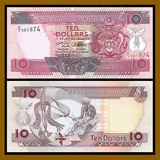 Solomon Islands 10 Dollars, 1996 P-20 (4 Digit Low Serial Number) Unc
