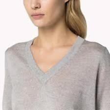 Tommy Hilfiger - Women's Wool sweater light grey L