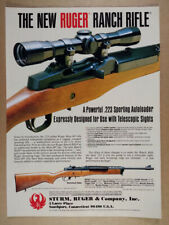 1983 Ruger Mini-14 Ranch Rifle vintage print Ad