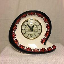 Vintage Ceramic Clock Electric Retro Modern Interior Design