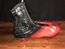 UNDER ARMOUR Mens Size 15 Highlight CompFit Hi Top Red/Black Cleats 4D Foam