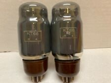 GEC KT66 PE 4 Brown Base Grey Glass Very Close Matched Pair Tested Strong