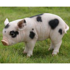 Standing Pig W Black Spots Large  - Life Like Figurine Statue Home / Garden