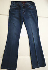 A+ NEESO JRS 5 FLARE STUDDED POCKETS WHISKERED LOW RISE JEANS JUNIORS